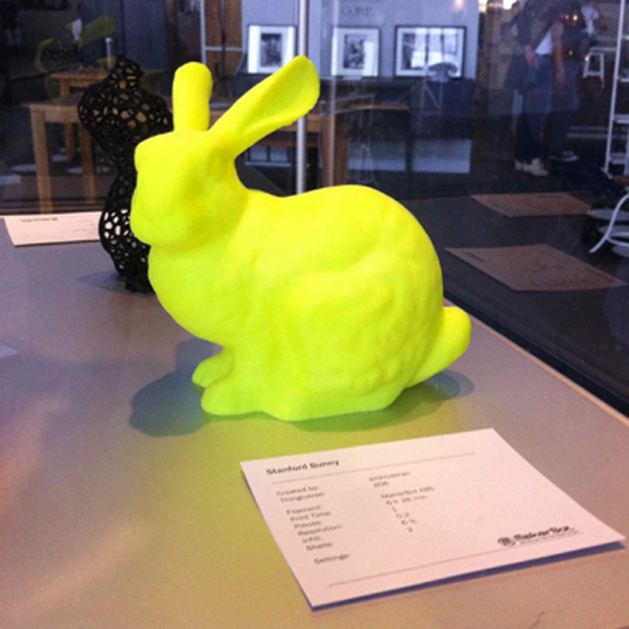 printed yellow rabbit