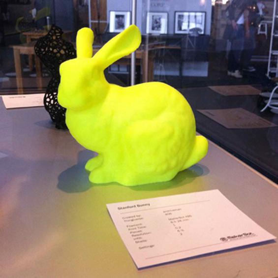 printed yellow rabbit