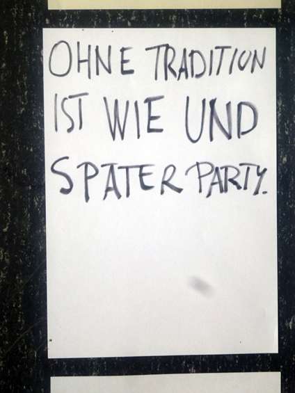 Without tradition is like and later party.